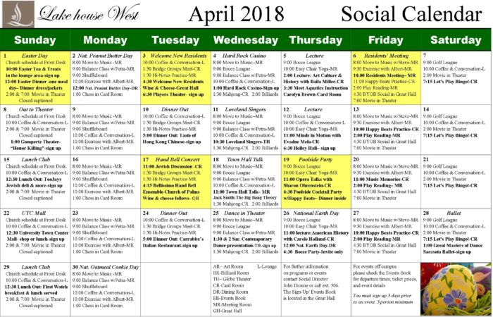 April Calendar 2018 movie plan - Copy